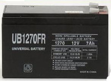 Sealed Lead Acid Battery - UB1270FR (Flame Retardant) - 8Ah 12v