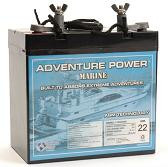 Sealed Lead Acid Battery UB12550 (Group 22NF) Marine Post 55Ah 12v
