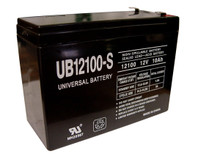 Sealed Lead Acid Battery - UB12100-S - 10Ah 12v
