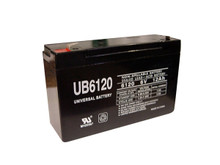 Sealed Lead Acid Battery - UB6120 - F2 type terminal - 12Ah 6v