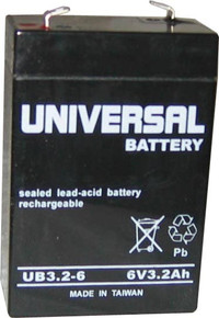 Sealed Lead Acid Battery - UB632 - 3.2Ah 6v