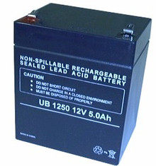 Sealed Lead Acid Battery - UB1250 -Terminal F2 - 5Ah 12v