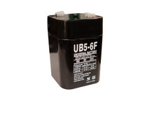 Sealed Lead Acid Battery - UB650F Lantern - 5Ah 6v