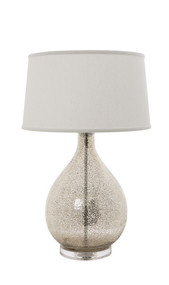 Table Lamp With Off White Shade - BRM