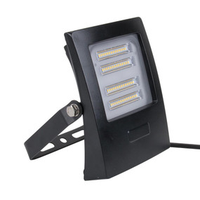 Marine Grade Vandal Resistant Flood Light - 30W 2850lm IP66 IK08 5000K 160mm Black