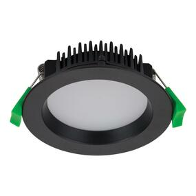 LED Downlight - Dimmable 13W 900lm IP44  Tri Colour 110mm Black