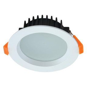 LED Downlight - Dimmable 10W 800lm IP44 Tri Colour 110mm White