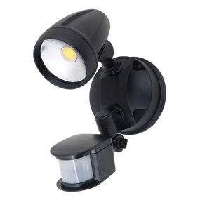 Robust-15S Single Head 15W LED Security Spotlight - Tri Colour, Black