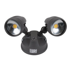 Robust-30 Twin Head 30W LED Spotlight - Tri Colour, Grey