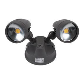 Robust-30 Twin Head 30W LED Spotlight - Tri Colour, Grey