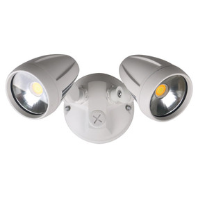 Robust-30 Twin Head 30W LED Spotlight - Tri Colour, White