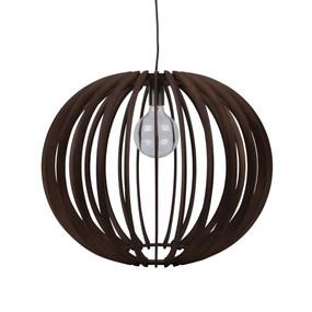 Contemporary 60cm Timber 1.5m Pendant Light - Brown