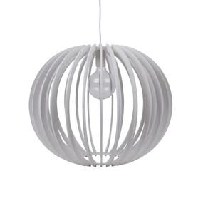 Contemporary 60cm Timber 1.5m Pendant Light - White