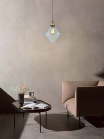 Contemporary Glass Pendant Light - Clear