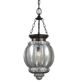 Contemporary Lantern Pendant Light - Grey