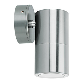 Outdoor Contemporary 1 Light LED GU10 Spotlight - Titanium Silver