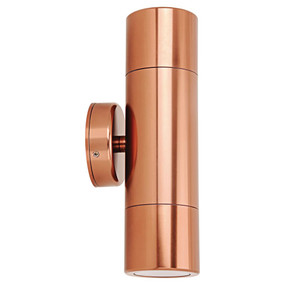 Outdoor Contemporary 2 Light LED GU10 Spotlight - Copper
