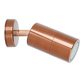 Outdoor Contemporary 1 Light Adjustable LED GU10 Spotlight - Copper