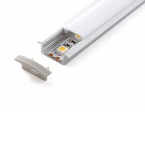 ALP001 Aluminium Profile With PMMA Opal Diffuser 1M Polycarbonate 17.1x8mm