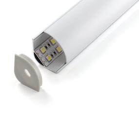 LED Strip Profile - 2000mm x 30mm IP20 Aluminium Opal