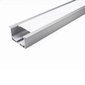 ALP045 Aluminium Profile With PMMA Opal Diffuser 1M Polycarbonate 50x32mm
