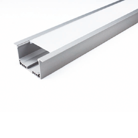 ALP045 Aluminium Profile With PMMA Opal Diffuser 2M Polycarbonate 50x32mm