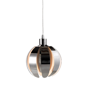 60W Modern Small Pendant With Black Chrome Metal