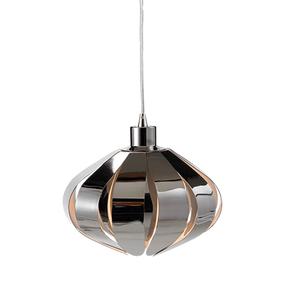 60W Modern Large Pendant With Black Chrome Metal
