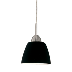 40W Modern Black Glass Shade Pendant