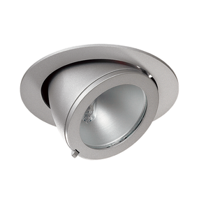 70W Circular Adjustable Downlight Metal Halide Shoplight In Silver