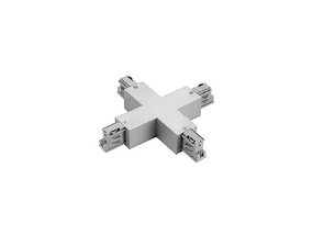 X Connector To Suit Three Circuit Track Left Hand Feed In White