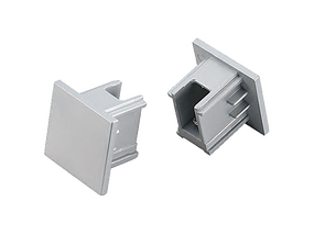 3 Circuit Track End Cap In Silver