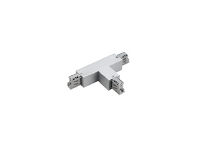 T Connector To Suit Three Circuit Track Right Hand Feed In White