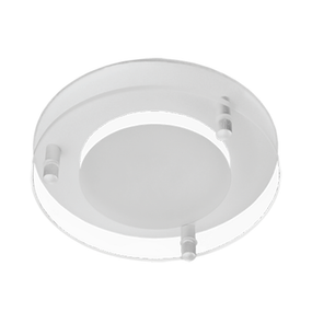 Round Silver Dropped Glass Face Option