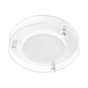 Round White Dropped Glass Face Option