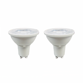 Eco 5W Natural White LED GU10 Lamps - Twin Pack