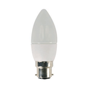 4W Natural White LED ECO Candle Bayonet Cap Twin Pack