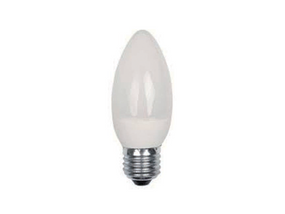 4W Natural White LED ECO Candle Edison Screw Twin Pack