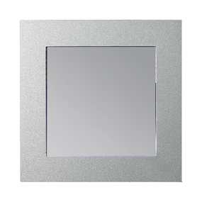 SQ Recess LED Wall LT 3K c/w White & Silver Face