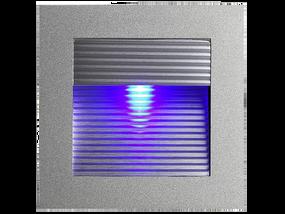LED Louver Square Recessed Wall Light Colour Blue