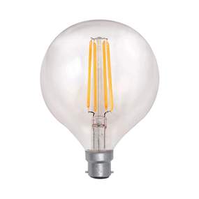 LED G125 Filament Globe 7W Warm White BC Dimmable