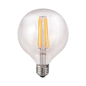 LED G125 Filament Globe 7W Warm White ES Dimmable