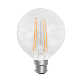 LED G95 Filament Globe 7W Warm White BC Dimmable