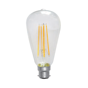 LED ST64 Filament Globe 7W Warm White BC Dimmable