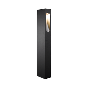 Stylish 650 6W Warm White Black LED Bollard Light