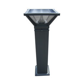 Solar Bollard Light - 500lm IP65 5000K 1000mm Black Industrial Strength