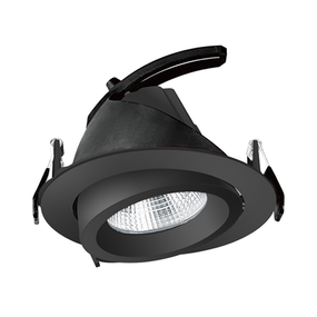Gimble Downlight - Non-Dimmable 34W 4500lm IP20 4000K 188mm Black Shop Light