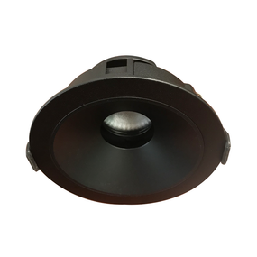 LED Downlight - Dimmable 9W 900lm IP20 3000K 100mm Black Adjustable Commercial Grade