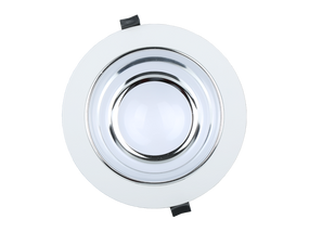 LED Downlight - Dimmable 18W 1440lm IP54 Tri Color 172mm White Shop Light