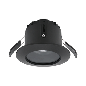 LED Downlight - Dimmable 6W 700lm IP65 3000K 100mm Black